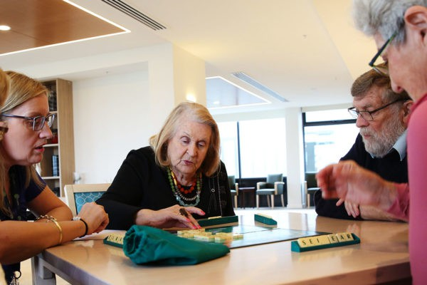 residentials playing scrabble