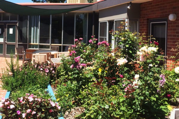 flowers at residential home