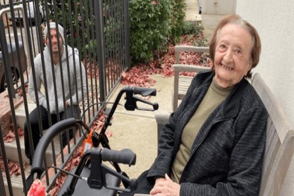 Helen Soldatis enjoying a gate visit during lockdown